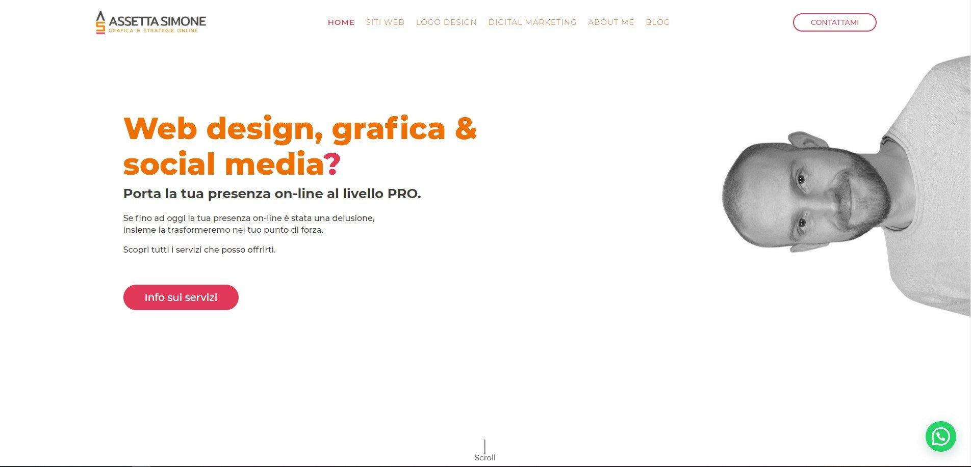 esempio CTA nella mia homepage